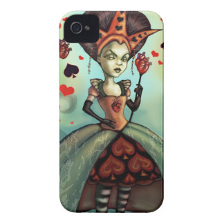 Queen of Hearts iPhone 4 Case-Mate Case