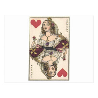 QUEEN OF HEARTS - ISABELLA Vintage print Post Cards