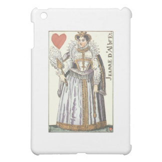 QUEEN OF HEARTS - JEANNE E'ALBRET Vintage playing iPad Mini Cases