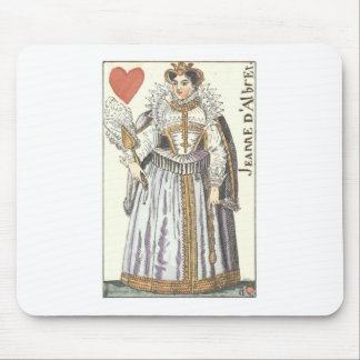 QUEEN OF HEARTS - JEANNE E'ALBRET Vintage playing Mouse Pad