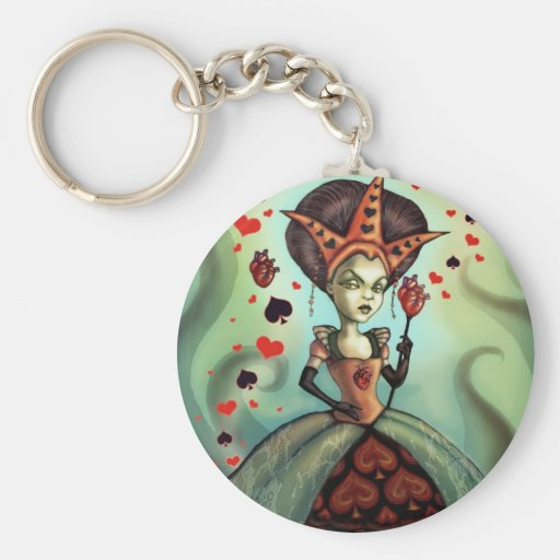 Queen of Hearts Key Chains