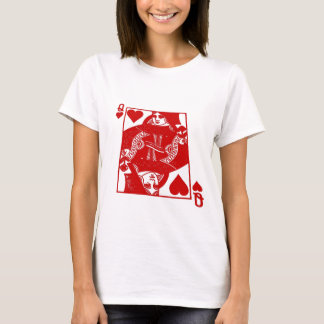 queen of hearts ladies white t T-Shirt