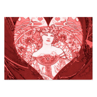 Queen of Hearts Large Business Card