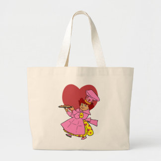 Queen of Hearts Large Tote Bag