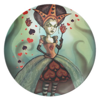 Queen of Hearts Melamine Plate