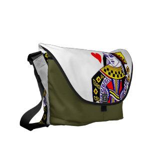Queen of Hearts Messenger Bag