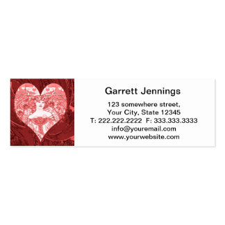 Queen of Hearts Mini Business Card
