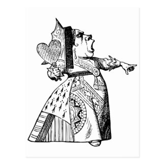 Queen of Hearts - Off with her head! Post Card