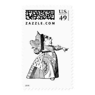 Queen of Hearts - Off with her head! Postage Stamp