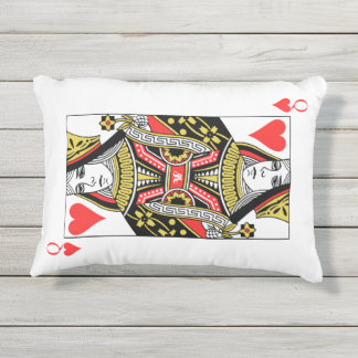 Queen of Hearts Outdoor Pillow