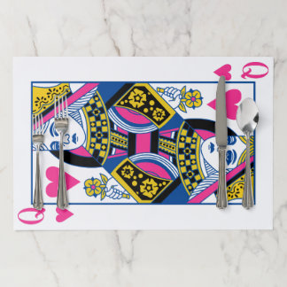 Queen of Hearts Paper Placemat