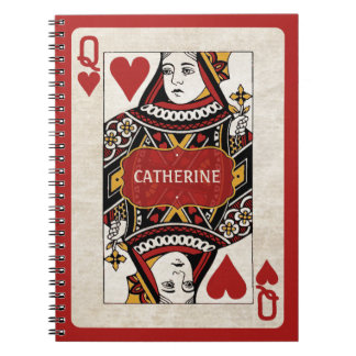 Queen of Hearts personalized notebook