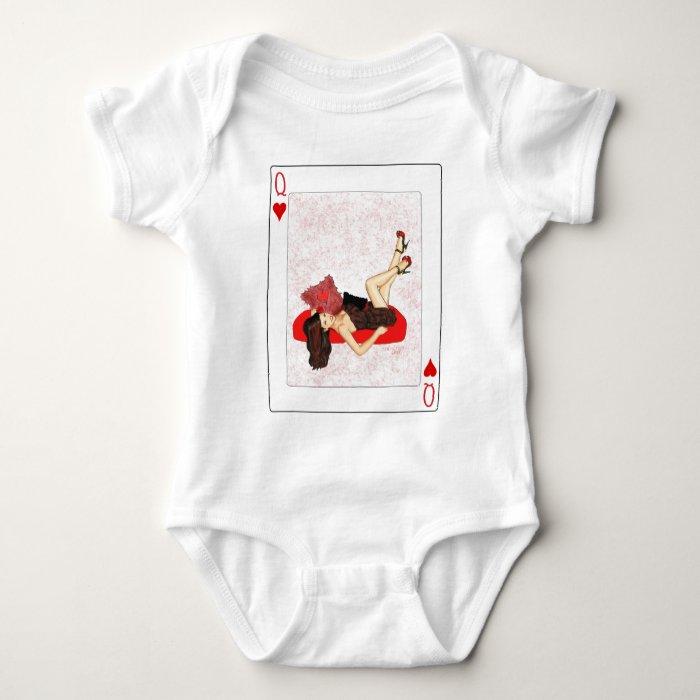 Queen of Hearts Pin-up Baby Bodysuit