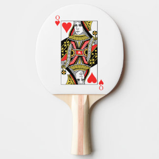 Queen of Hearts Ping-Pong Paddle