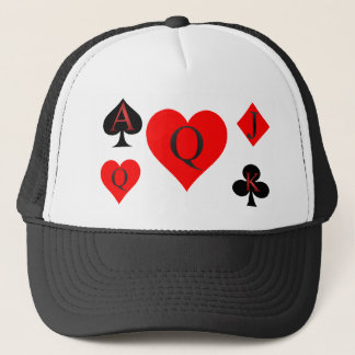 Queen Of Hearts Playing Cards Trucker Hat
