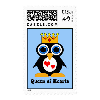 queen of hearts postage stamp