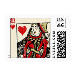 Queen of Hearts Postage Stamps