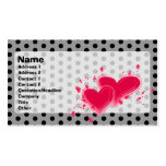 Queen of Hearts Profile Card Business Card