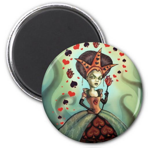 Queen of Hearts Refrigerator Magnets