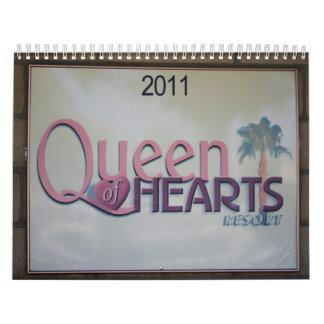 Queen of Hearts Resort Calendar