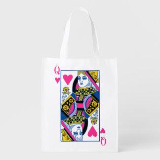 Queen of Hearts Reusable Grocery Bag