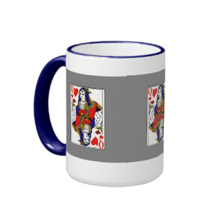 Queen Of Hearts Ringer Coffee Mug