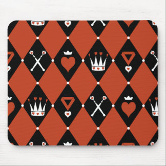 Queen of Hearts Royal Motifs Mouse Pad
