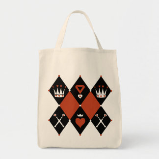 Queen of Hearts Royal Motifs Tote Bag