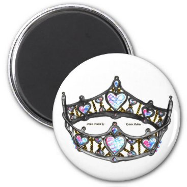 Beach Themed Queen of Hearts Silver Crown Tiara white standard Magnet