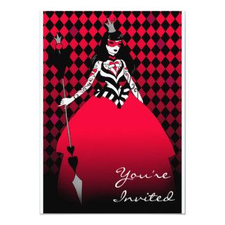 Queen of Hearts sophisticated party invitation