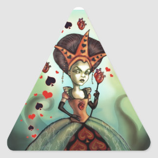 Queen of Hearts Triangle Stickers
