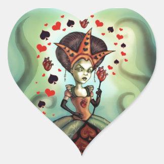 Queen of Hearts Heart Sticker