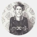 Queen of Hearts Sticker Alice in Wonderland Art