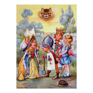 Queen of Hearts & the Executioner in Wonderland Poster