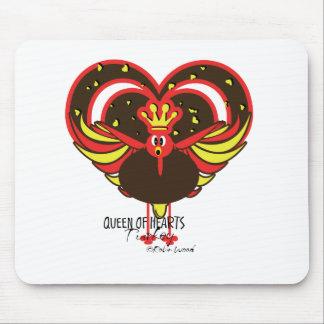 Queen of Hearts Turkey divas - funny cartoon  Mouse Pad