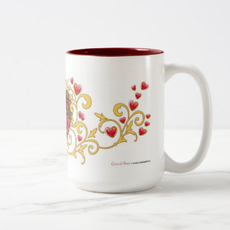 Queen of Hearts Two-Tone Coffee Mug