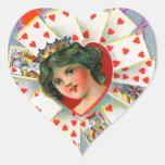 QUEEN OF HEARTS ,Valentine's Day Heart Sticker