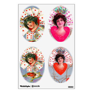 QUEEN OF HEARTS ,Valentine's Day Ovals Room Graphics