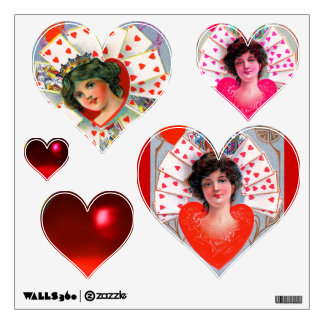 QUEEN OF HEARTS ,Valentine's Day Room Decal