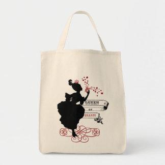 Queen of Hearts Vintage Graphic Canvas Tote Tote Bag