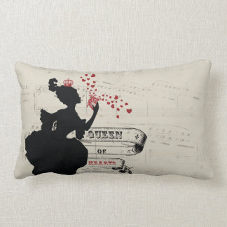 Queen of Hearts Vintage Graphic Pillow