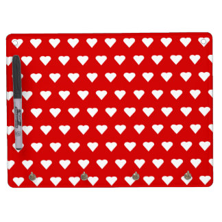 Queen of Hearts Wall Organizer Dry Erase Board With Keychain Holder