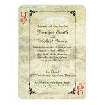 "Queen of Hearts Wedding Invitation 5"" X 7"" Invitation Card"