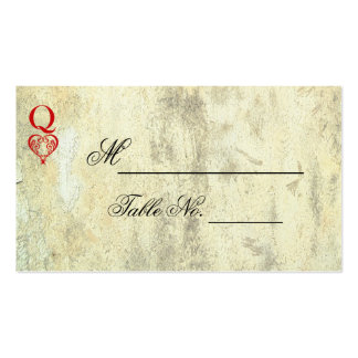 Queen of Hearts Wedding Place Card