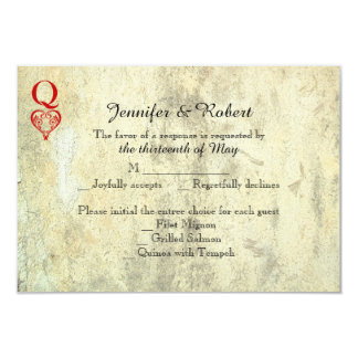 Queen of Hearts Wedding Response Card