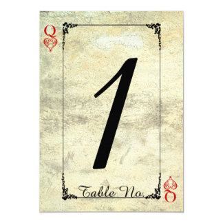 Queen of Hearts Wedding Table Number