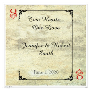 Queen of Hearts Wedding Wall Cling Wall Decor