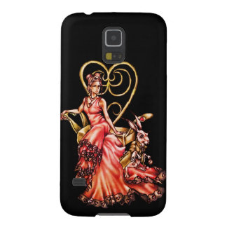 Queen of Hearts with White Rabbit Case For Galaxy S5