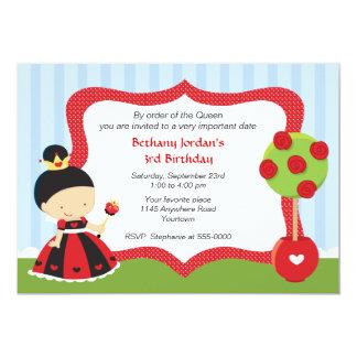 Queen of Hearts Wonderland Birthday 5x7 Paper Invitation Card