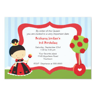 Queen of Hearts Wonderland Birthday Card
